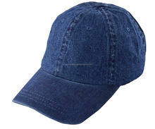 Denim Blue Hat, Adjustable Unstructured Jeans Baseball Cap