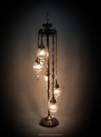 Hand blown glass lamp shades, Turkish Drop Mosaic Lamp Chandelier