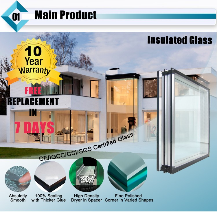 High Transmission Curtain Wall Tempered Lowe Insulated Glass Unit Price