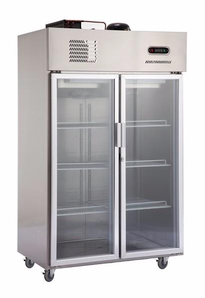 Restaurant Equipment Kitchen Used Commercial Glass Door Refrigerator