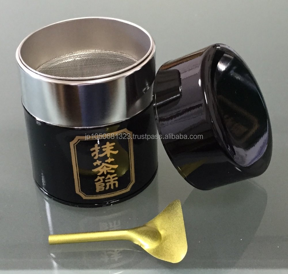 High quality screw top can at reasonable prices, for matcha tea powder in silver and gold color made in Japan