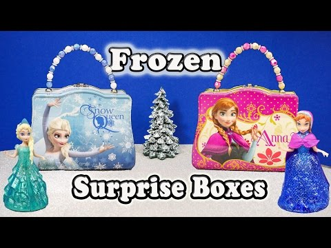 FROZEN Disney Elsa + Anna Frozen Funny Huge Surprise Boxes Frozen Surprise Toys Video