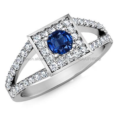 d4adabeecf37 de la venta caliente joyería de diamante natural anillo de zafiro azul real