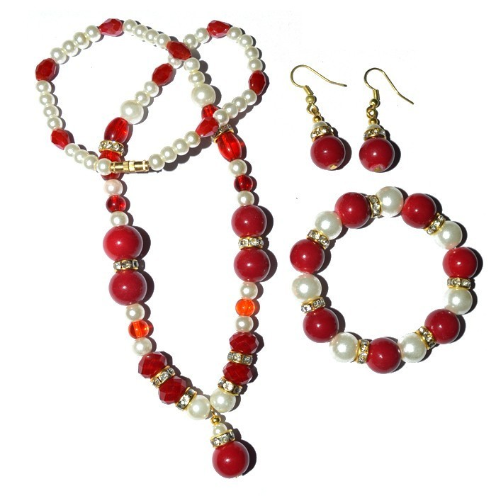 Coral Imitation Fashion Necklace : Supplier And Wholesaler of Gemstone Nacklace