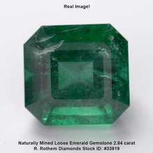 Natural Emerald Gemstone 2.84 carat Square Radiant Shape Green Precious Birthstone