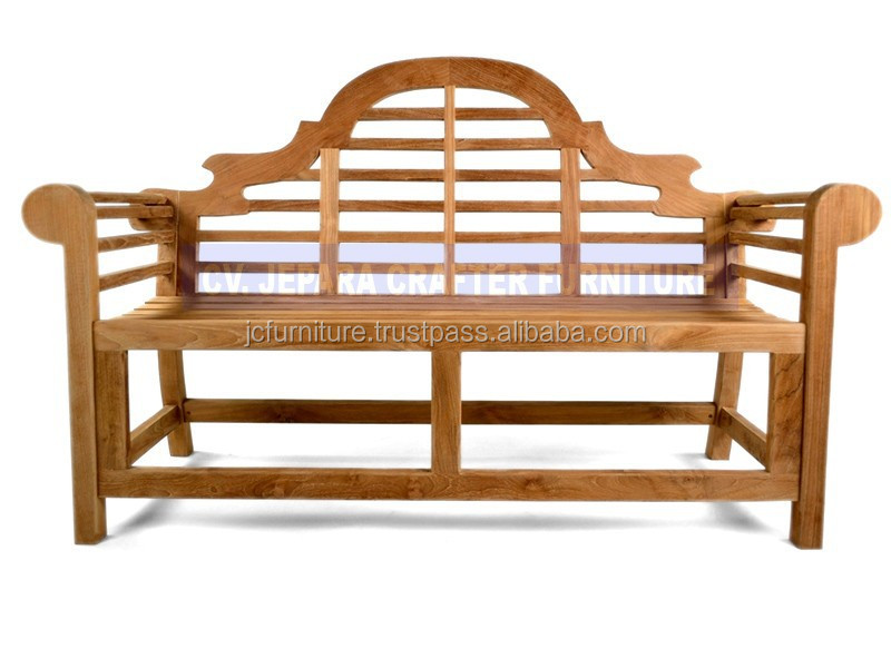 Solid Teak Wood Garden Furniture Marlborough lutyen Benches Patio Outdoor Indonesia