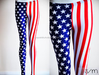 Custom sublimation USA flag printed leggings
