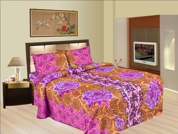 Coton Indien Floral Drap Plat Complet Fine De Luxe Indien Colore