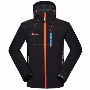 Men Waterproof Soft shell Outdoor Jacket Hiking Climbing Soft shell Jacket Weatherproof Windproof Ski Snow Jacket