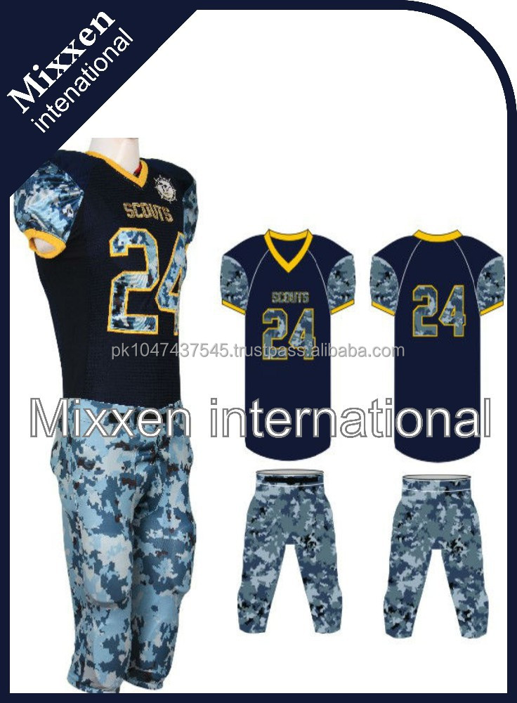 American football uniform/customized/camo