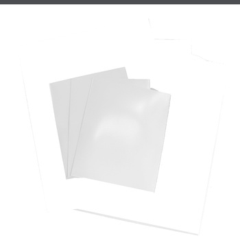 Executive File Folder 2 Pockets Glossy White Box Of 25 Units