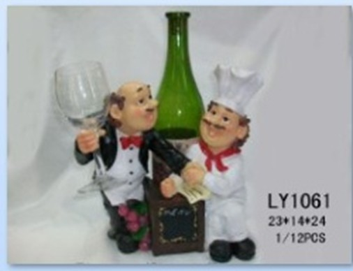 Customized High Quality Small be hilarious Poly real Resin Kitchener Cook Chef statute