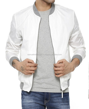 Men S White Off White Bomber Jacket 2017 Hot Selling White Color