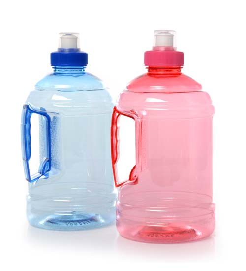 Plastic Water Bottle w Handle.