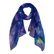 Fashion 100% polyester silk feel scarf 2017