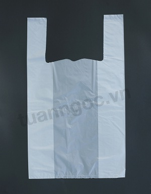 White t-shirt bag safe for food, fruit/ HDPE T-shirt bag export to Europe/ Japan/ Australia