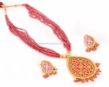 e56c688dfc4 Online buy wholesale Antique Thewa jewellery - Thewa Beaded necklace set -  Thewa Art Traditional set