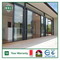 Entrance aluminum sliding door, lowE glass, dark color