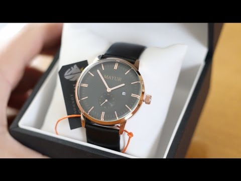Mayur Watches Review | Black & Gold Regal