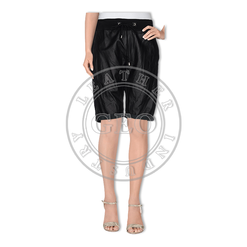 Smart Design Leather Shorts for Ladies Vogue