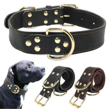New Braided Greyhound Genuine Leather Dog Collar