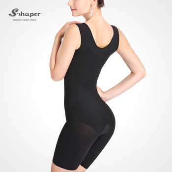 7165329c60c S-SHAPER Italy Carvico Fabric Sleeveless Corsets Capri Bodysuits Fir Slim Body  Shaper