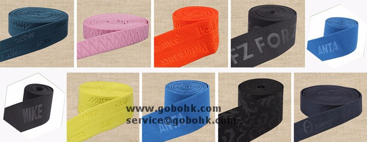 Heat pressing logo embossing machine for clothes elastic band