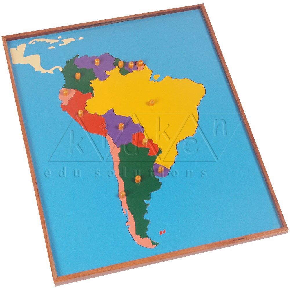 Map Puzzle South America Montessori
