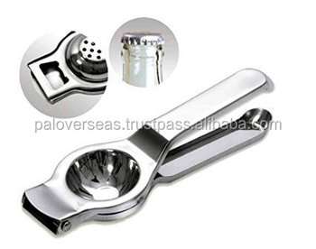 2 in 1 Lemon Squeezer with Bottle Opener attached Premium Quality Stainless Steel Citrus Juicer
