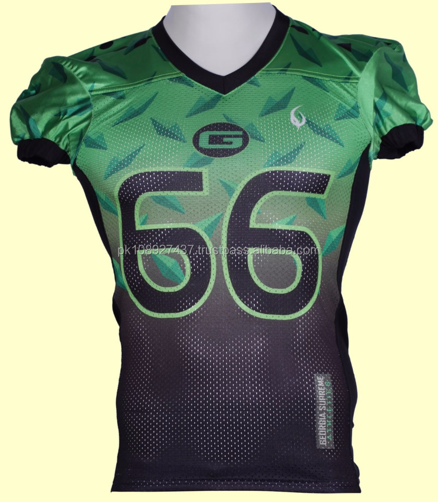 Sublimated costome made American football jersey