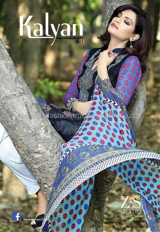 4c348cad94f1 Zs Kalyan Embroidered Lawn Suits - Buy Pakistan Lawn Suit ...