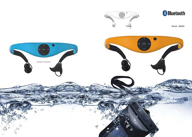 new portable wireless swimming driving ipx8 waterproof mp3 player 4gb vibrators,support FM