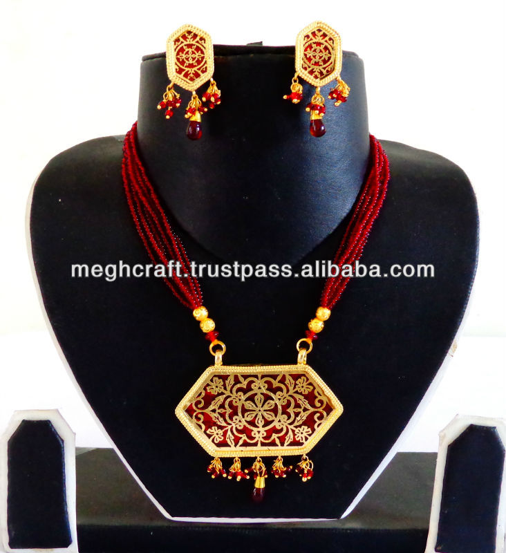 be8bc66f47ef80 Indian handmade Thewa jewellery - Meena jewelry - imitation pearl jewelry  -indian imitation jewellery -thewa art jewellery