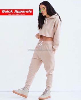 ee0d10f053e wholesale custom plain Velour Hoodie Sweat Suits set velvet tracksuits for  women Sport
