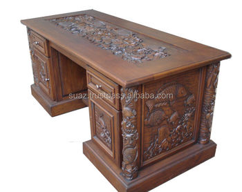 office desks wood. Wood Carving Executive Desk , Antique Office Furniture Hand Carved Writing Desks A