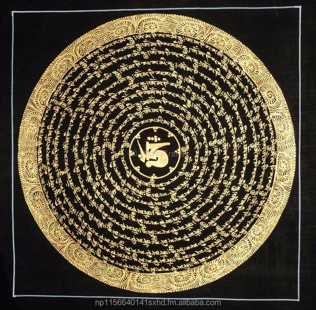 0e9b4ca918f34 High Quality Mantra Mandala Handpainted In Nepal - Buy Mandra  Mandala,Mantra Mandala Thankga,Thankga Paintings Product on Alibaba.com