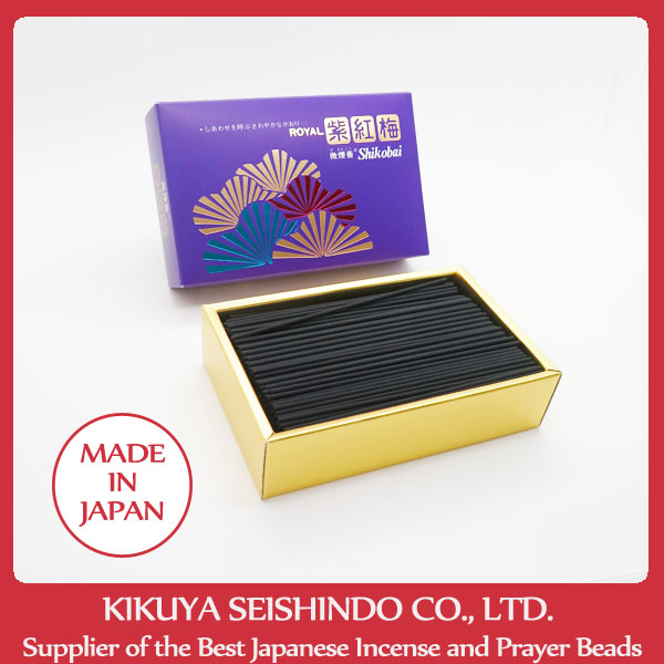 Seijudo, ROYAL Shikobai, Incense Sticks, Economy Pack, Floral Fragrance, high quality aroma oils