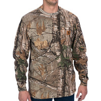 long sleeves real tree camo t-shirts