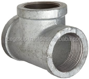 Equal Tee Malleable Iron Pipe Fitting (Galvanized)