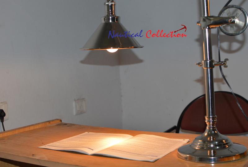 Look vintage lampada da tavolo di studio ascensore puleggia tavolo