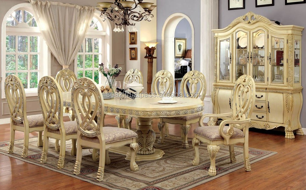 Hand Carved Wooden Dining Table Wood Carving