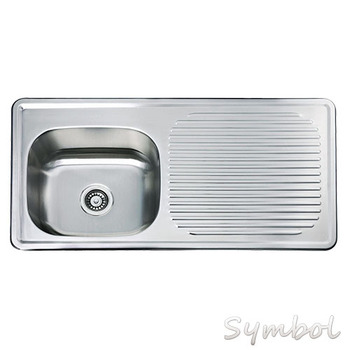 Malaysia Supply Unique Single Bowl With Drain Board Kitchen Stainless Steel  Sink