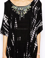 KGN Brand New Gemstone Embellished Stylish Party Wear Women Black Kaftans And Tunic Dress