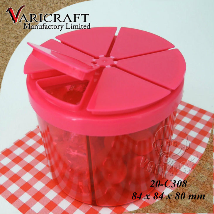 Different Capacities food grade plastic jar with custom print lid for wholesales
