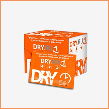 DRY RU Wet Wipe (Napkin) - Anti-sweat wipes.