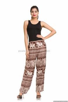 ea327f6afd Indian Cotton Pants Elephant Printed Girls Harem Trousers Ethnic Yoga Pant  Designer Art
