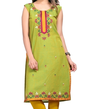 0b861210537 Indian Design Machine Embroidery Designs Kurtis - Buy Latest Women ...