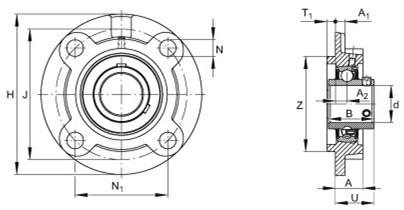 UCFC208 bearing