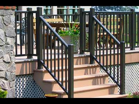 Get Quotations · Outdoor Stair Railings~ Outdoor Stair Railings Aluminum