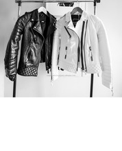 Black/White/grey/ performance men leather jacket/Pakistan